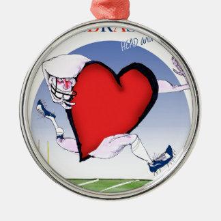 Ornamento De Metal coração principal de nebraska, fernandes tony
