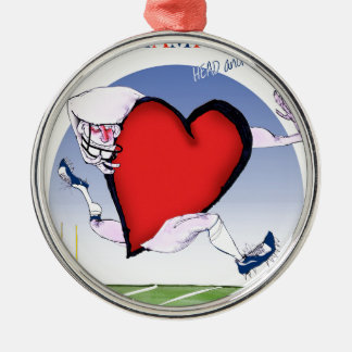 Ornamento De Metal coração principal de New Hampshire, fernandes tony