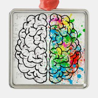 Ornamento De Metal corações da ideia da psicologia da mente do