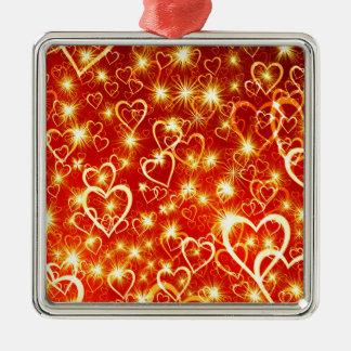 Ornamento De Metal Corações no fogo