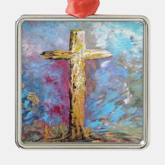 Ornamento De Metal Cores da cruz