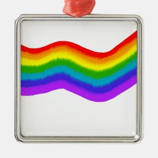 Ornamento De Metal Cores do arco-íris do Watercolour