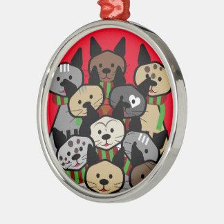 Ornamento De Metal Coro de gatos do Natal