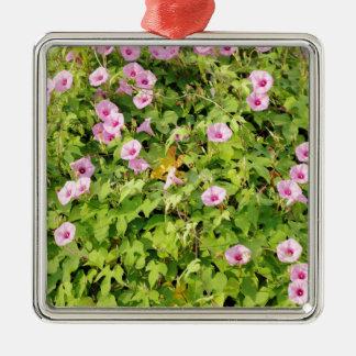 Ornamento De Metal Corriolas cor-de-rosa Bush