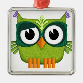 Ornamento De Metal coruja verde