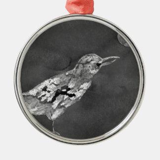 Ornamento De Metal Corvo e lua