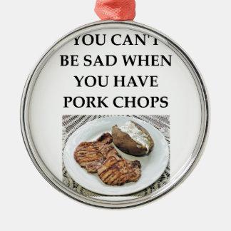 Ornamento De Metal costeletas de carne de porco