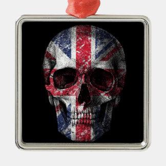 Ornamento De Metal Crânio BRITÂNICO da bandeira