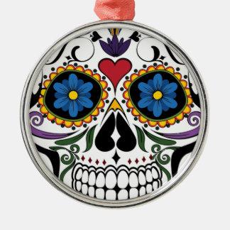 Ornamento De Metal Crânio colorido do açúcar
