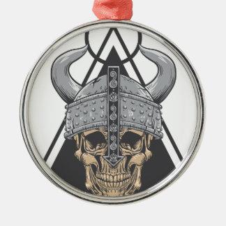 Ornamento De Metal Crânio de Viking