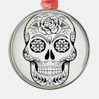 Ornamento De Metal Crânio do açúcar