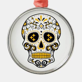Ornamento De Metal Crânio do açúcar de Pittsburgh