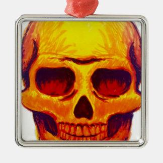 Ornamento De Metal Crânio do esboço