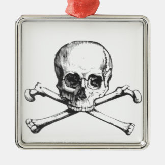 Ornamento De Metal Crânio e Crossbone do pirata