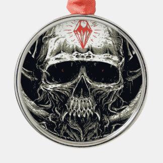 Ornamento De Metal Crânio Horned do diabo