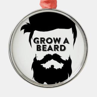 Ornamento De Metal Cresça uma barba então que nós falaremos