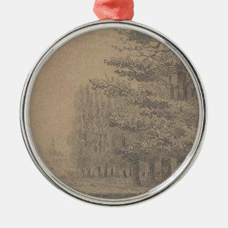 Ornamento De Metal Criação da paisagem do Jesus Cristo