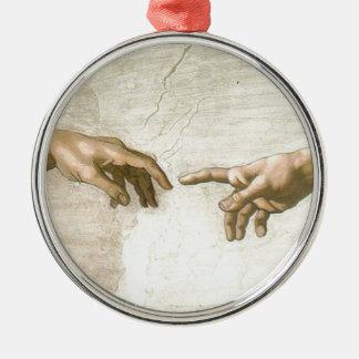 Ornamento De Metal Criação das mãos de Adam - Michelangelo