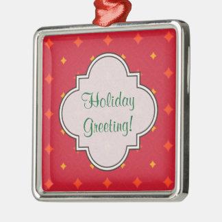 Ornamento De Metal Criar seu próprio feriado modelado Natal