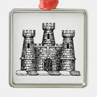 Ornamento De Metal Crista heráldica da brasão do emblema do castelo