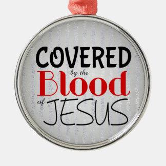Ornamento De Metal Cristão COBERTO pelo SANGUE de JESUS