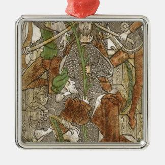 Ornamento De Metal Cristo coroado com espinhos