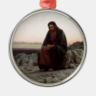 Ornamento De Metal Cristo de Ivan Kramskoy- nas belas artes da região