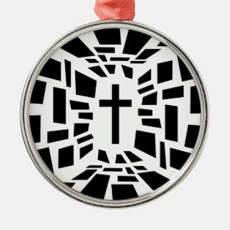 Ornamento De Metal Cruz cristã