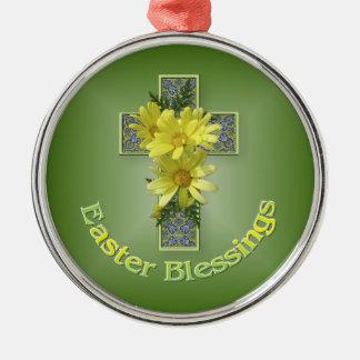 Ornamento De Metal Cruz das bênçãos da páscoa