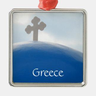 Ornamento De Metal Cruz de Santorini na tarde Sun