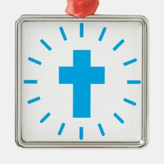 Ornamento De Metal Cruz do Jesus Cristo