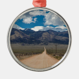 Ornamento De Metal Cruzamento da estrada da parte traseira do vale do