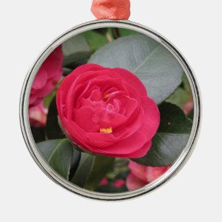 Ornamento De Metal Cultivar japonês antigo do japonica vermelho da