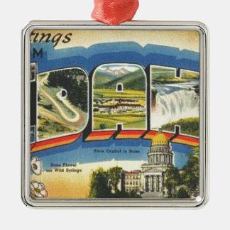 Ornamento De Metal Cumprimentos de Idaho