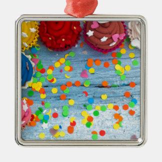 Ornamento De Metal cupcakes coloridos