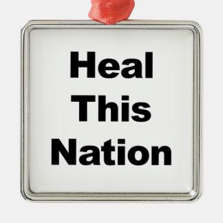 Ornamento De Metal Cure esta nação