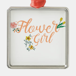 Ornamento De Metal Dama de honra bonito do florista