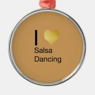 Ornamento De Metal Dança Playfully elegante da salsa do coração de I