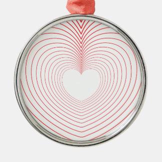 Ornamento De Metal ♥♥ das vibrações do amor do ♥♥