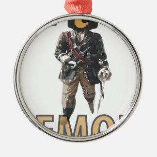 """Ornamento De Metal De """"limão do pé Peg"""" do pirata"""