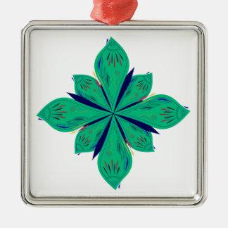 Ornamento De Metal Deco verde de Ethno da mandala