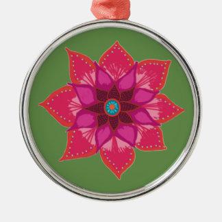 Ornamento De Metal Decoração cerâmica da arte vermelha da flor da