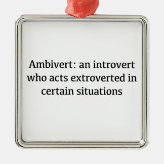 Ornamento De Metal Definição de Ambivert