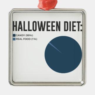 Ornamento De Metal Deleites dos doces da dieta do Dia das Bruxas e