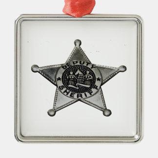 Ornamento De Metal Deputado xerife