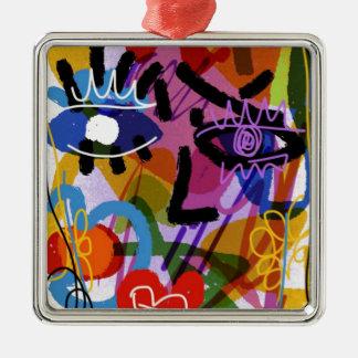 Ornamento De Metal Desenho abstrato de Digitas da cara da modificação