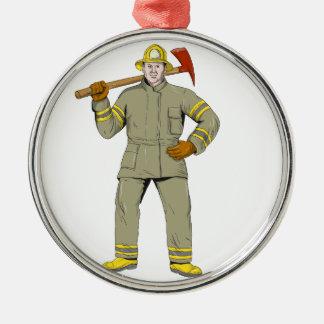 Ornamento De Metal Desenho americano do machado do fogo do