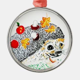 Ornamento De Metal Desenho bonito do ouriço