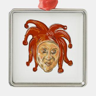 Ornamento De Metal Desenho da cabeça do bobo da corte da corte