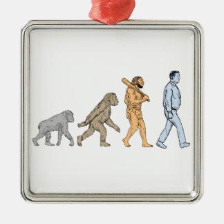 Ornamento De Metal Desenho de passeio da evolução humana